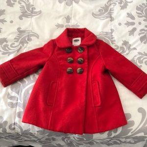 Red toddler pea coat